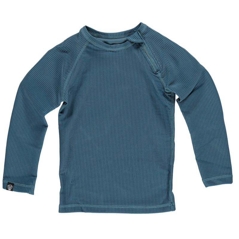 Image of Beach & Bandits soltrøje UPF 50+ - ocean ribbed pacific blue (2019005)