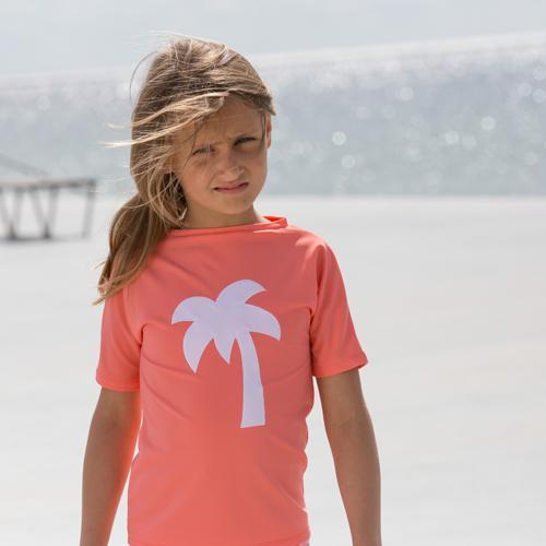 Image of Petit Crabe kortærmet UV trøje - flamingo (526779)